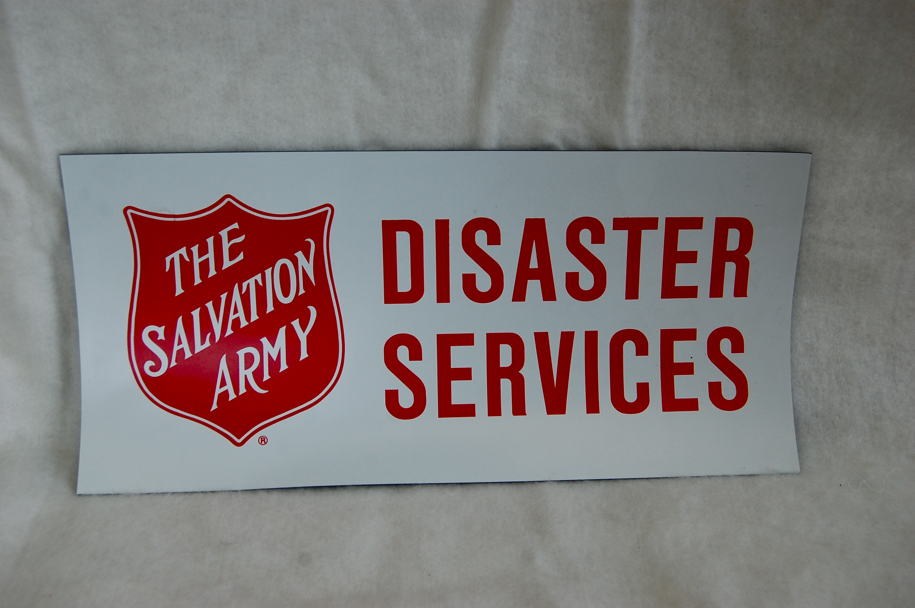 8″ x 16″ Disaster Services Magnetic Sign | The Salvation ...