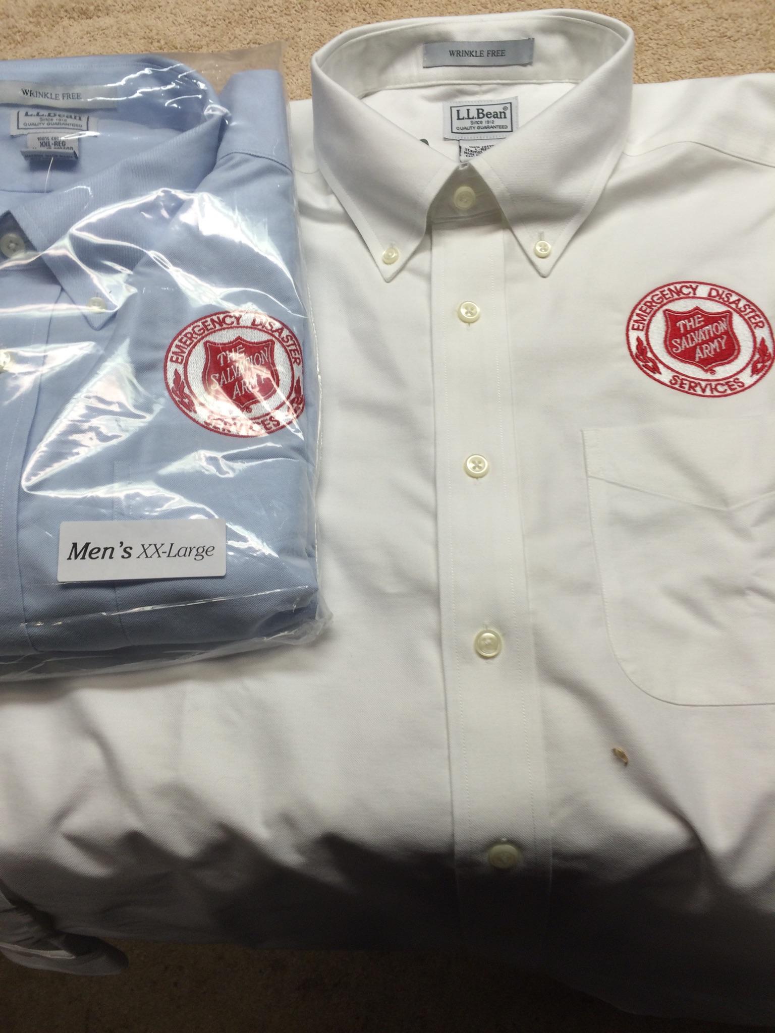 DRESS SHIRT, L.L. Bean, Long Sleeve, w/EDS Embroidered Emblem